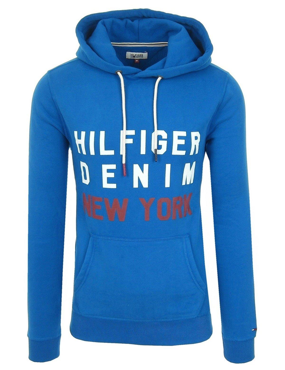 TOMMY HILFIGER Denim Herren Men Kapuzenpullover Hoodie Sweatshirt Blau Blue fb13da2265