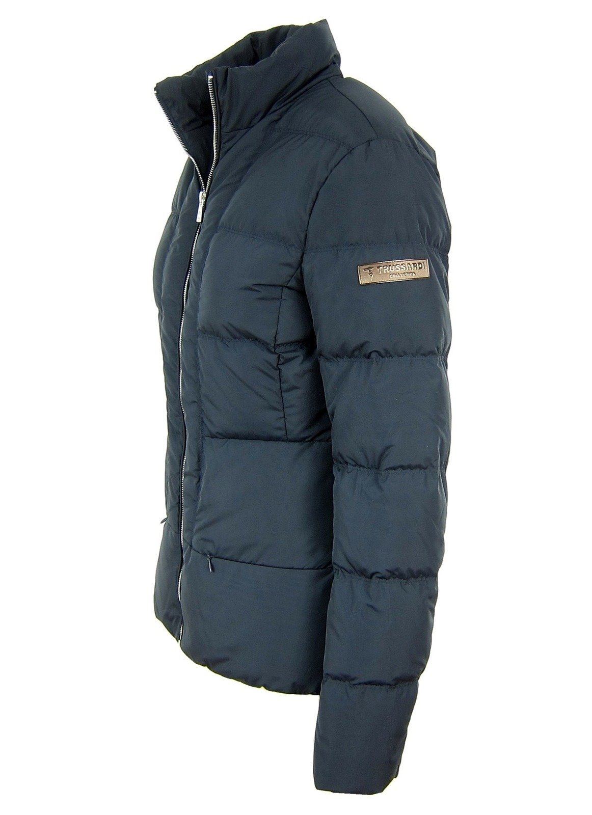 Details zu TRUSSARDI Collection Exver Maiolo Damen Women Daunen Jacke Down Jacket Navy Grau