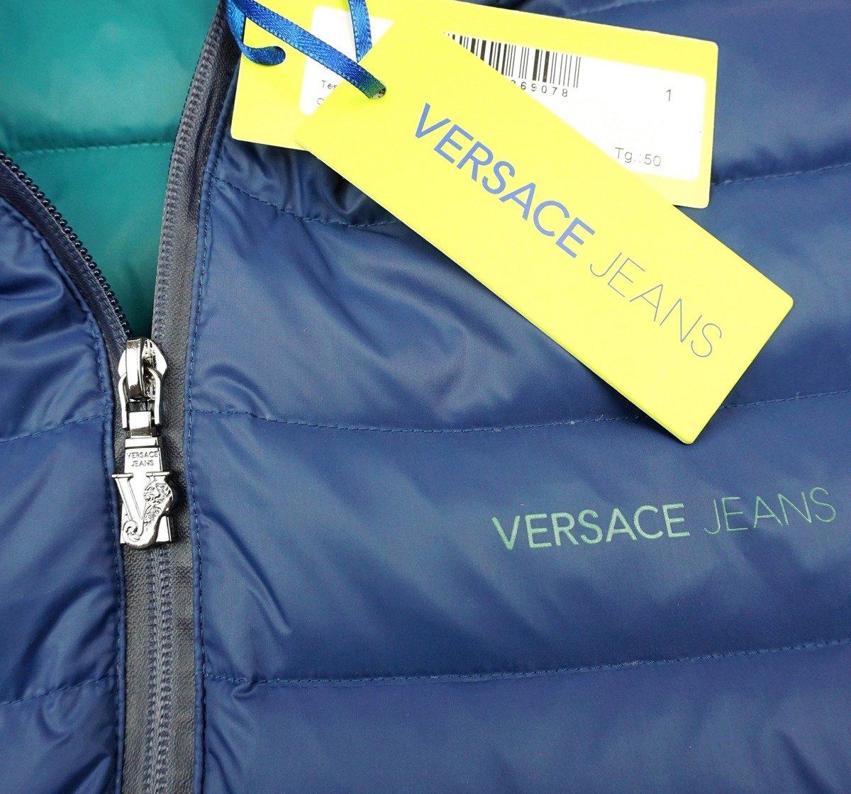 Details about VERSACE JEANS E5GNA907 Herren Men Daunenjacke Down Jacket Blau Blue L,XL,XXL