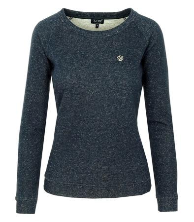 big sale a1bc6 68b21 ARMANI JEANS Z5M21 Damen Women Sweatshirt Pullover Dunkelblau/Silber