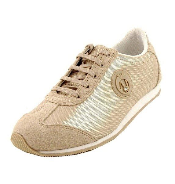 95b2d4931c95 ARMANI JEANS AJ0982 V5502 13 Damen Women Sneaker Halbschuhe Shoes Beige Gold  Click to zoom ...
