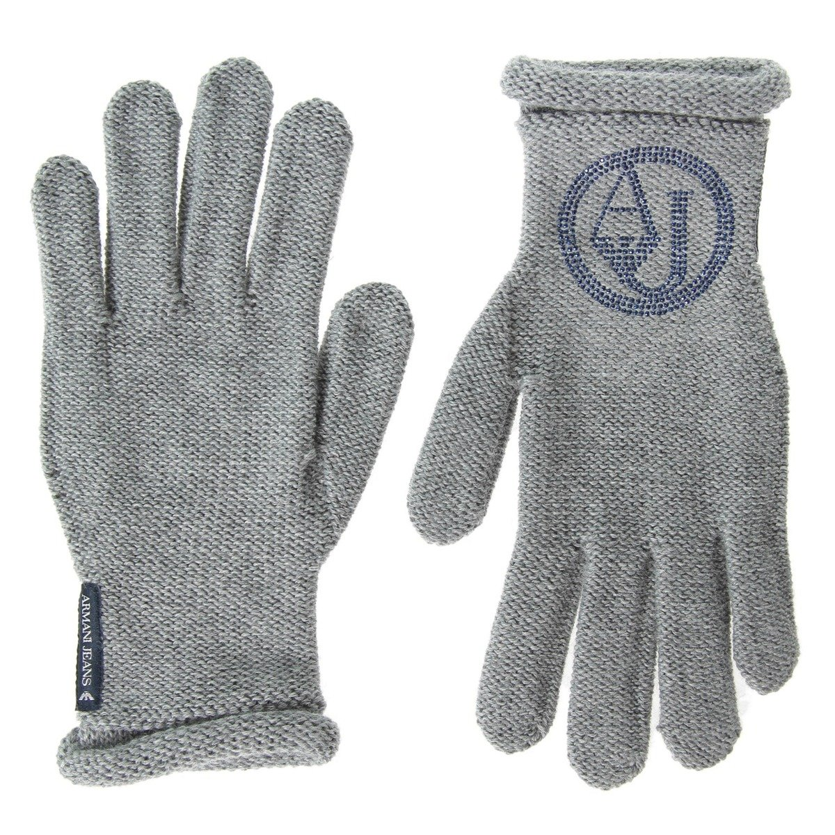 1b03b7003a4465 ARMANI JEANS Damen Women Handschuhe Gloves Grau Grey Made in Italy ...