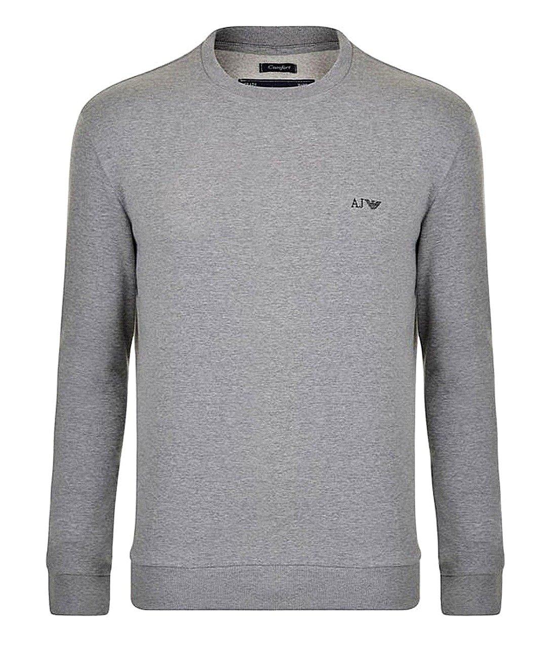 huge discount ed8ef be4df ARMANI JEANS Herren Men Sweatshirt Pullover Sweater Grau Grey Logo