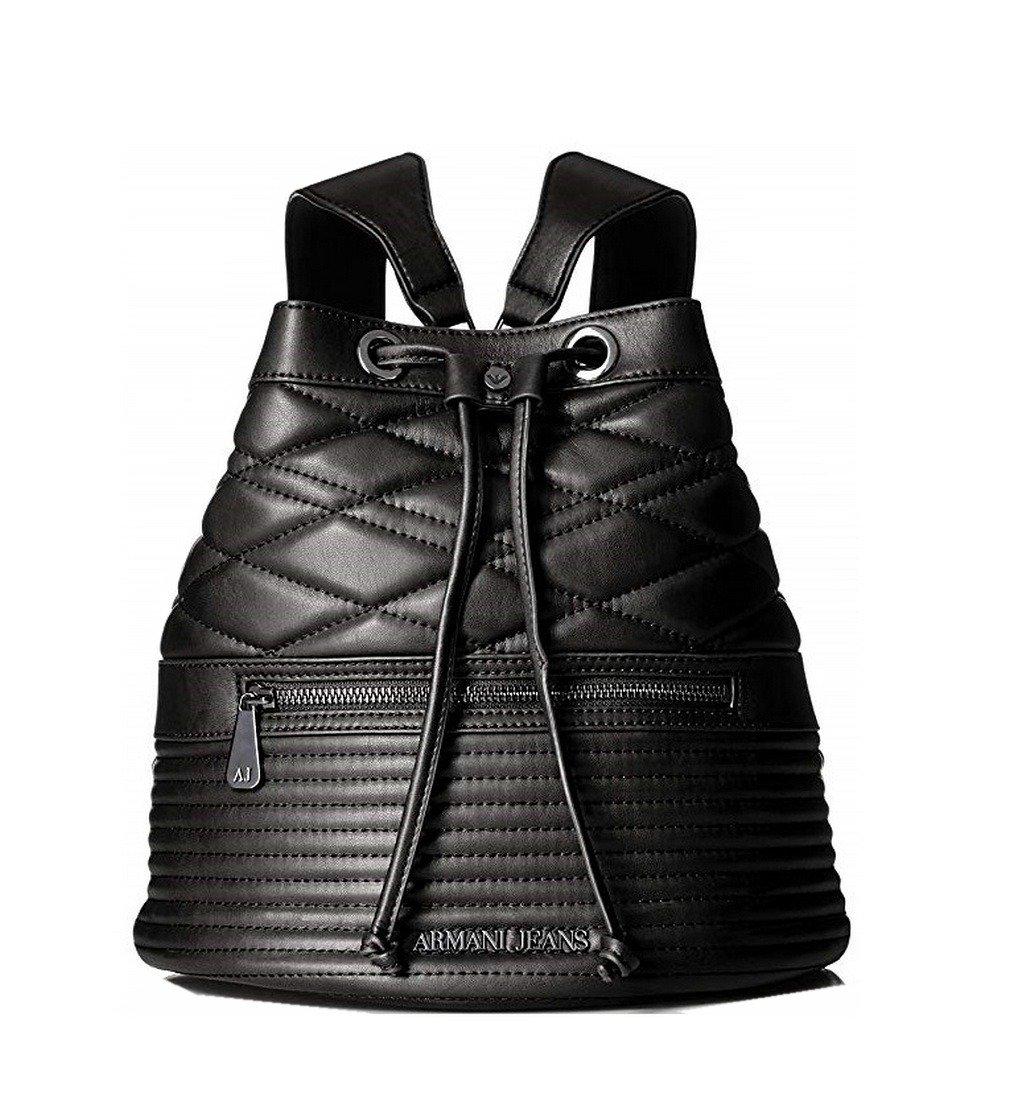 heiß-verkaufender Beamter modische Muster Qualität Armani Jeans 922920 Damen Rucksack Backpack Tasche Schwarz Black