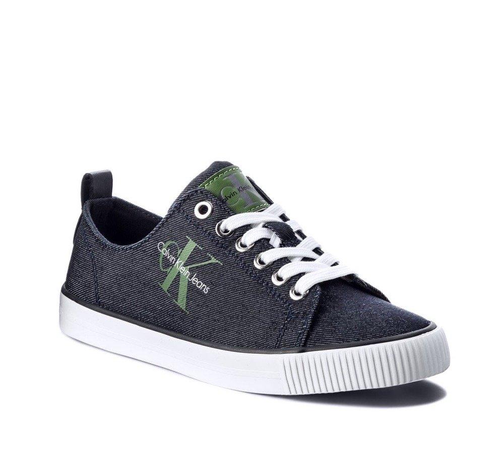 cheap for discount 3210e 4fabe CALVIN KLEIN JEANS Dora Damen Women Sneaker Schuhe Shoes Denim Blau