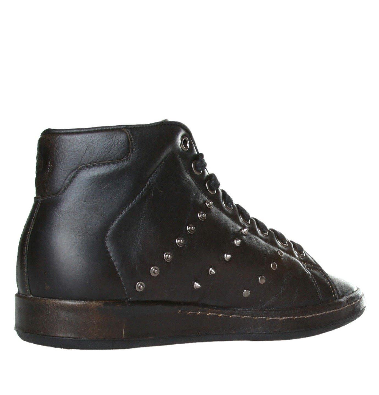 the cheapest cute biggest discount DIESEL ADIDAS Stan Smith 80s Mid Herren Men High Top Sneaker Leder Schwarz  Black