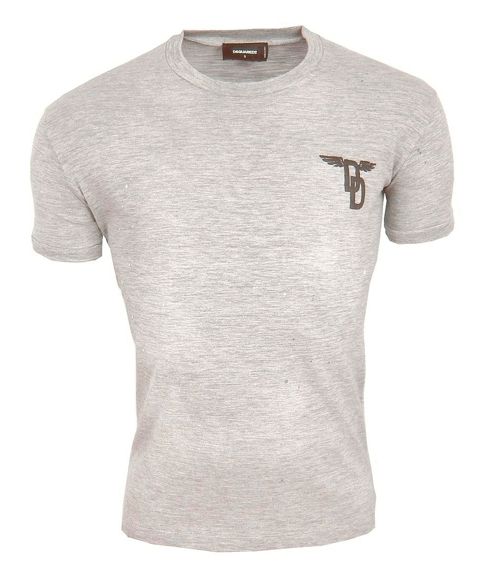 f119b6eb3fc79 DSQUARED2 S74GD0065 Herren Men T-Shirt Made in Italy Grau Grey Used ...