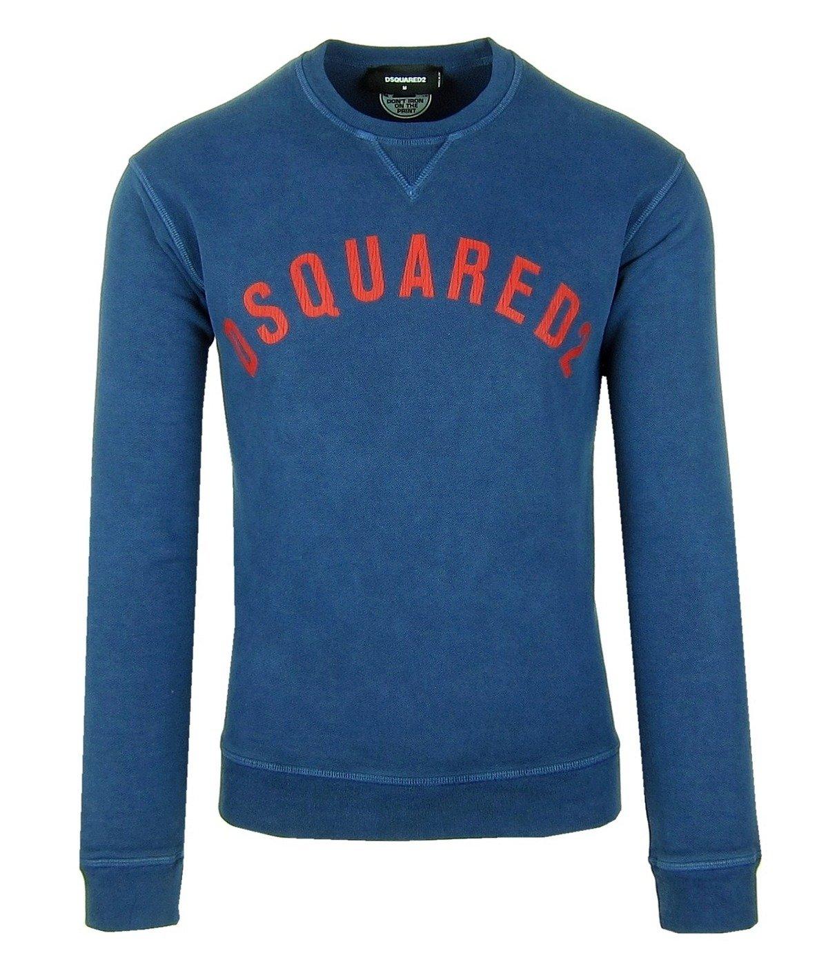 DSQUARED2 S74GU0155 Herren Men Pullover Sweatshirt Blau Blue