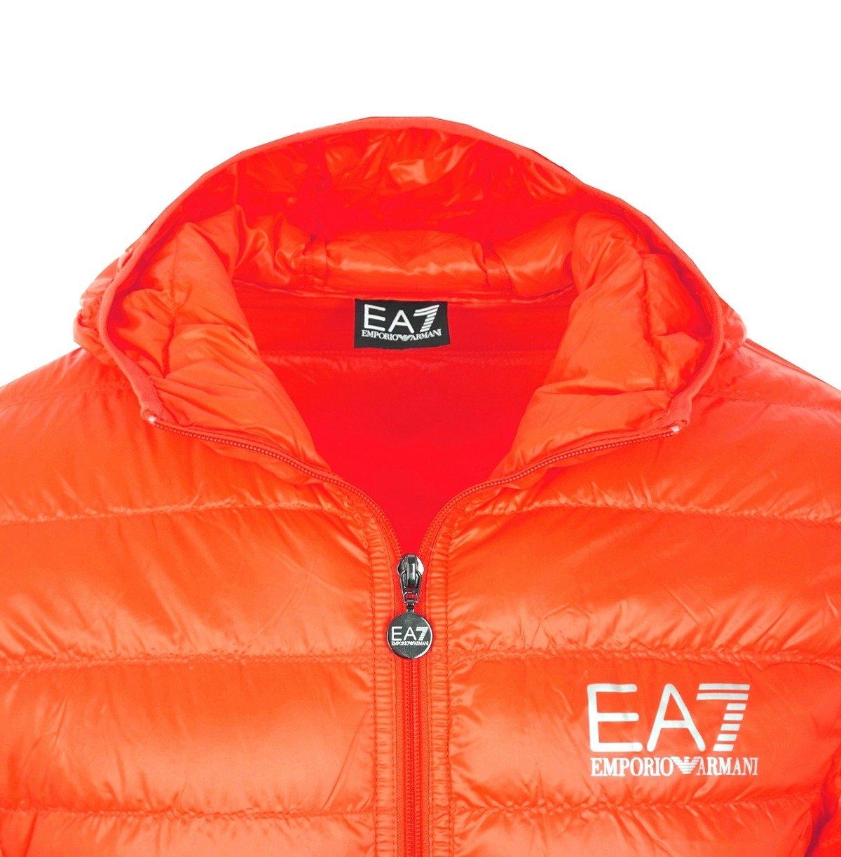 c46ea551282c1d ... EMPORIO ARMANI EA7 Herren Men Daunen Down Steppjacke Jacket Kapuze  Orange Click to zoom ...