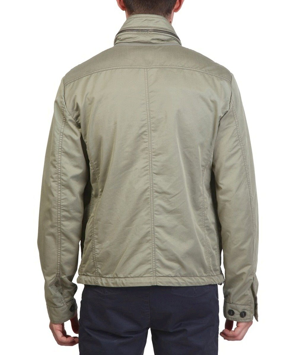 GEOX Respira Herren Men Übergangs Jacke Jacket BeigeGrüntöne