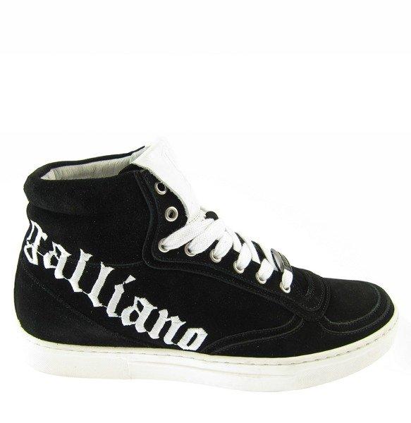 new concept ae740 9d327 JOHN GALLIANO Herren Men Schuhe High Top Sneaker Shoes Leder Leather Schwarz