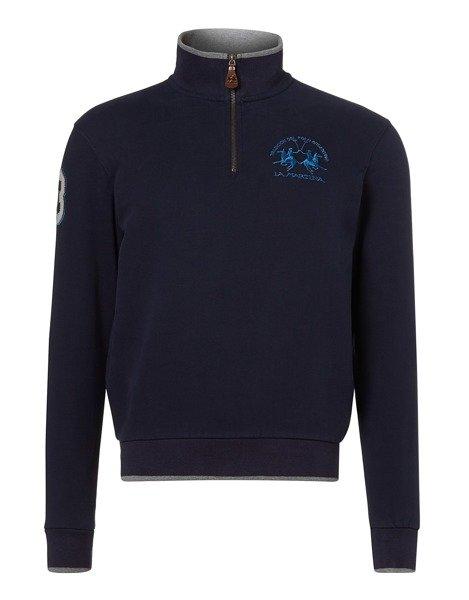 LA MARTINA Sweatshirt aus Baumwolle mit Logo Stickerei in