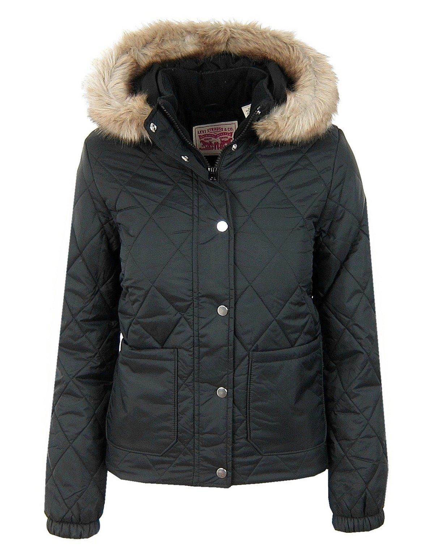 Damen Women Schwarz Poly Black Levi`s Puffer Jacke Jacket Steppjacke Vera QCxorWedEB