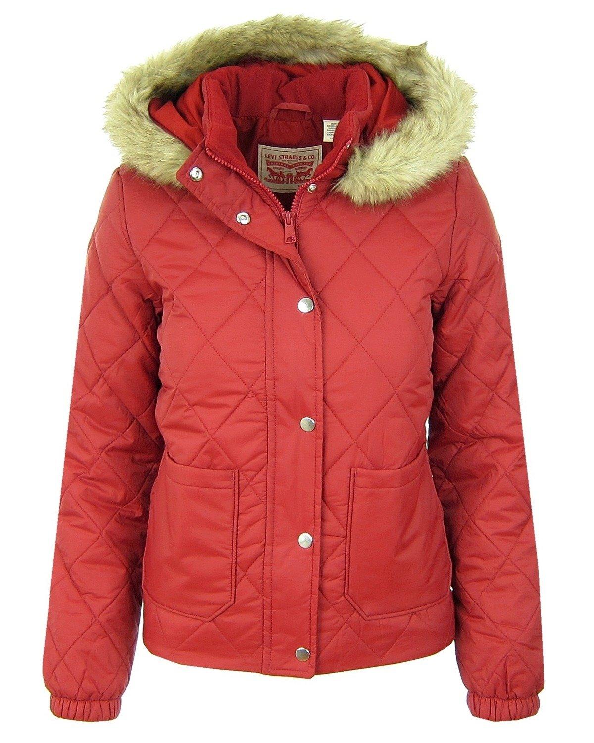 Puffer Jacke Red Jacket Poly Women Rot Steppjacke Damen Levis Vera IED9YWHe2