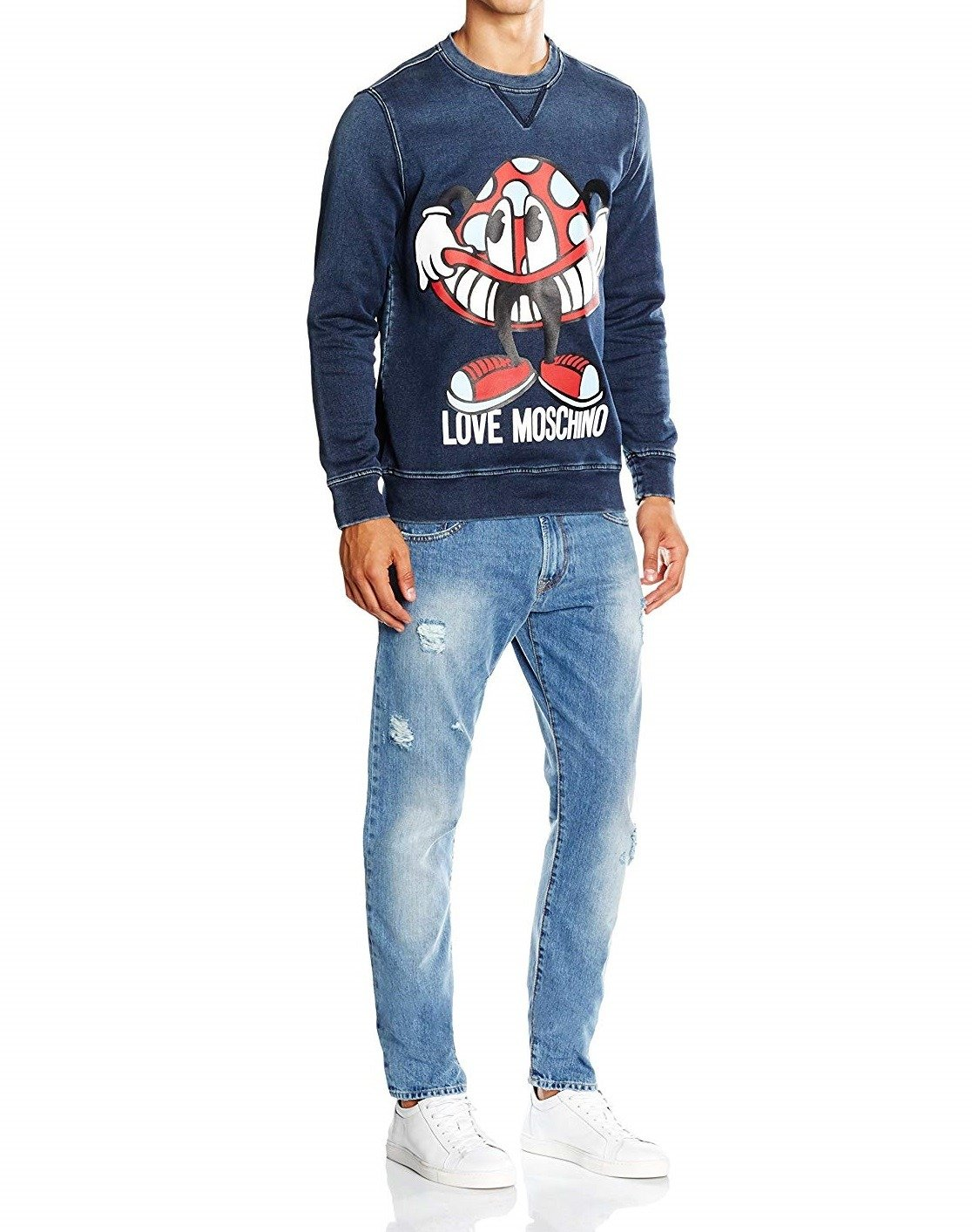LOVE MOSCHINO Herren Men Pullover Sweatshirt Made in Italy
