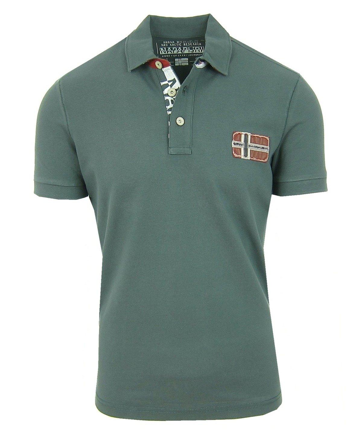 new product 9e089 f233f NAPAPIJRI Edenton Herren Men Polo T-Shirt Poloshirt Grün Greenhouse