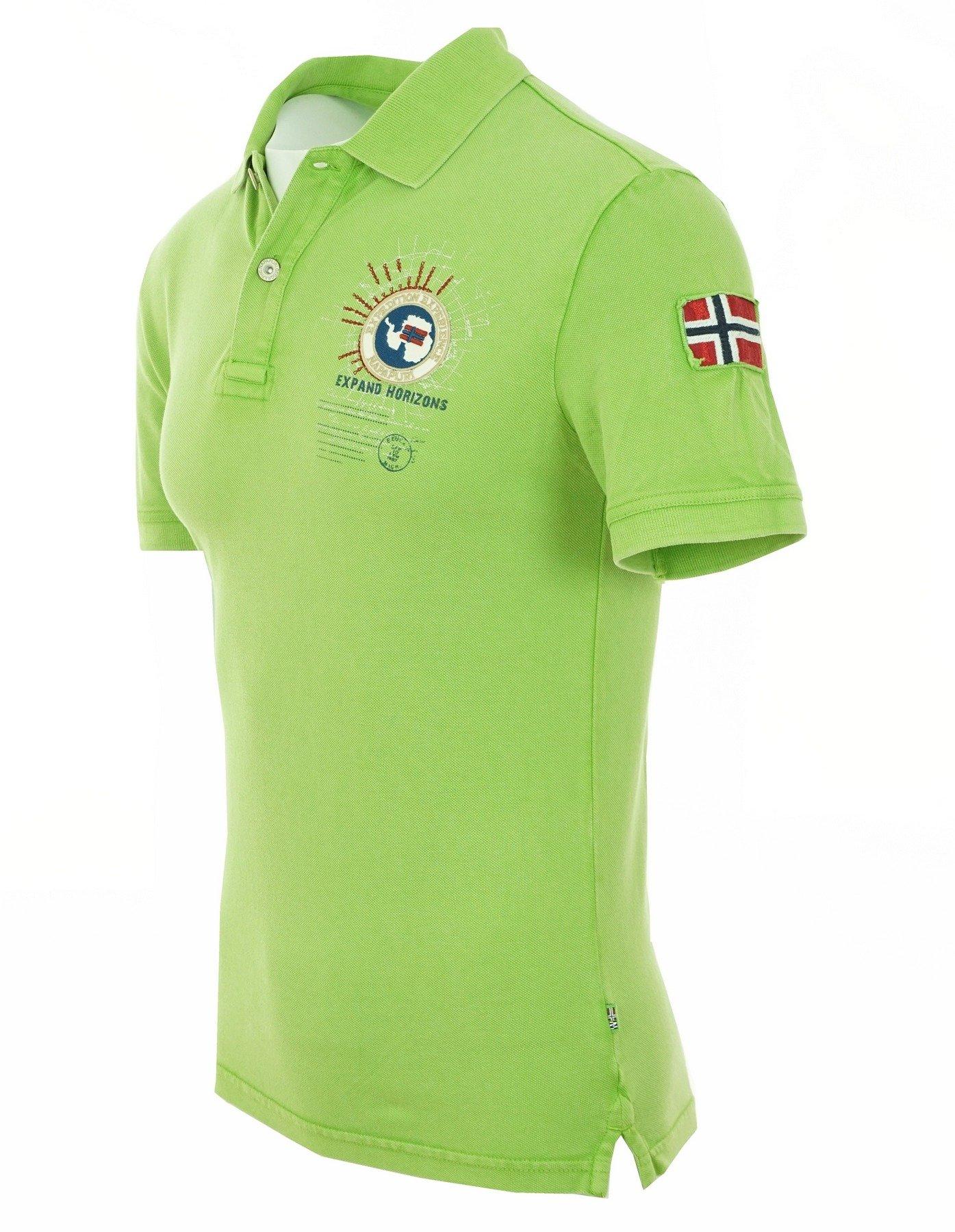 release date 06711 e0567 NAPAPIJRI Endy Herren Men Polo T-Shirt Poloshirt Grün Green