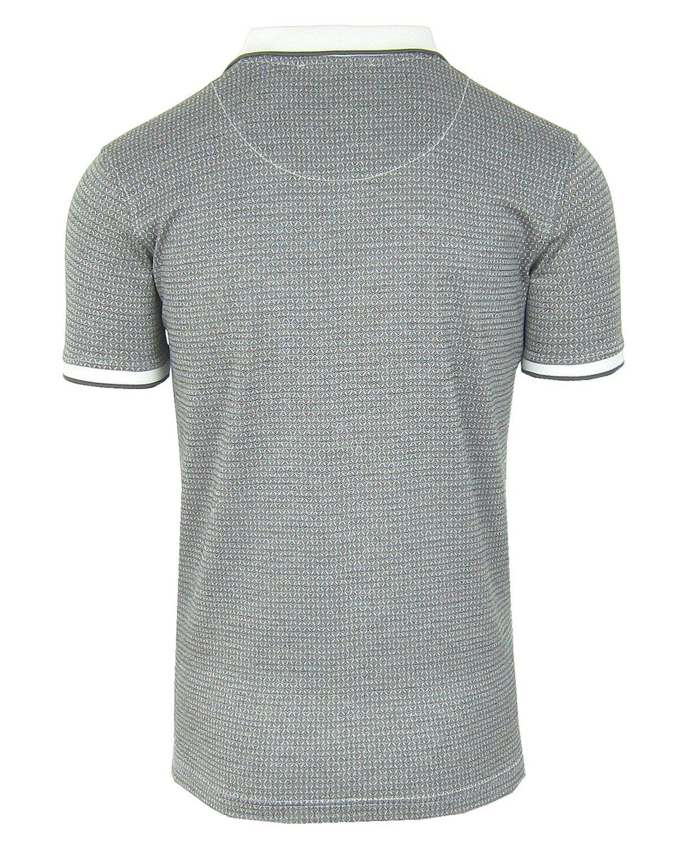 check out 1642e 1594a ROBERTO CAVALLI Jacquard Herren Men Polo T-Shirt Poloshirt Schwarz-Weiß