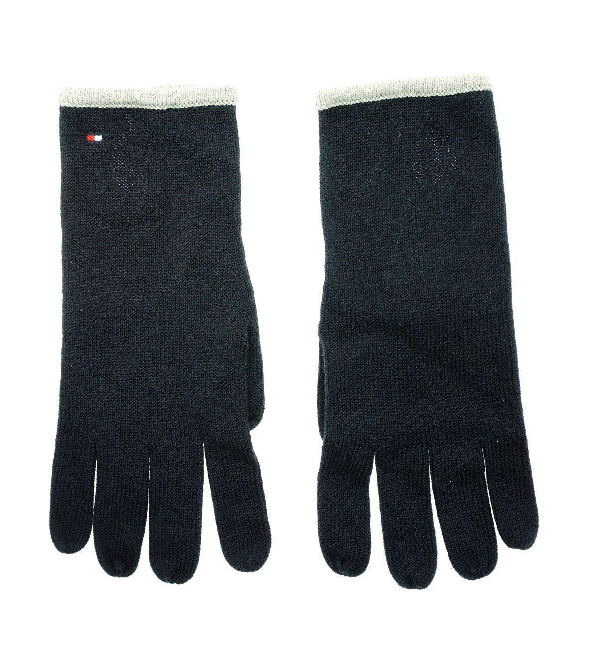 TOMMY HILFIGER Damen Women Set Handschuhe Gloves Schal Scarf DunkelblauGrau