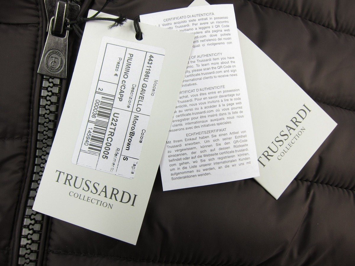 TRUSSARDI Collection Gavello Herren Men Steppjacke Jacke Jacket Braun Brown