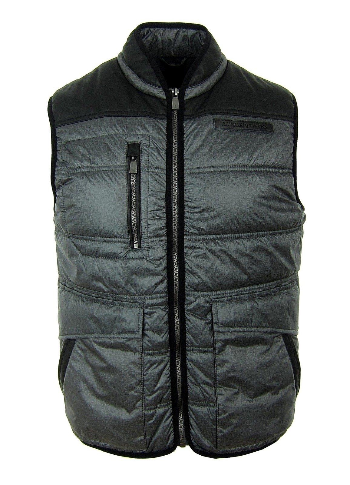 Trussardi Jacke Herren Grau 4952s51 Warm Jeans Men Vest Grey Weste Gilet OkXiPZTu