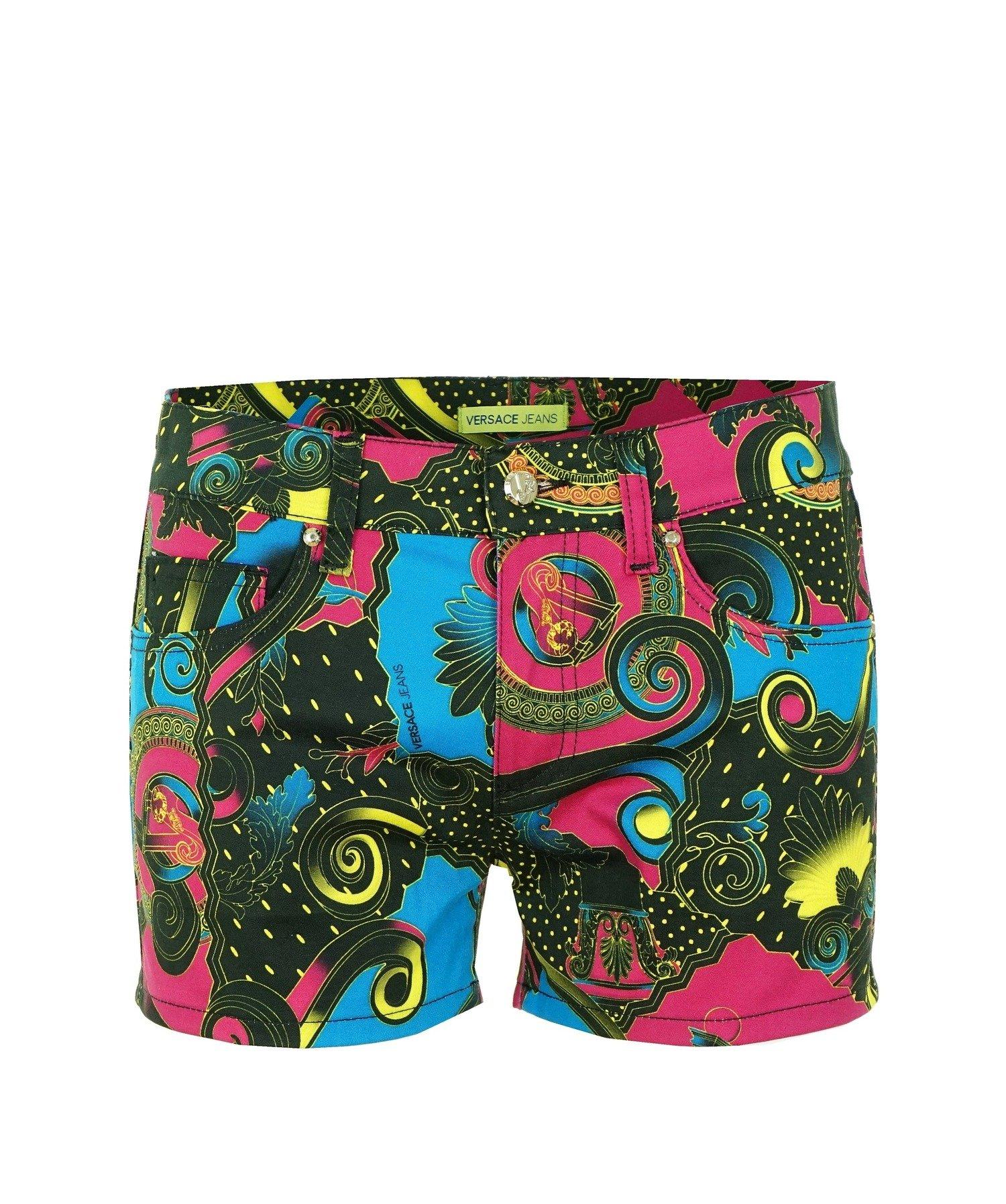 Jeans Shorts Mehrfarbig Damen Versace A3hnb191 Hose Kurze Women Ybf6vIy7g