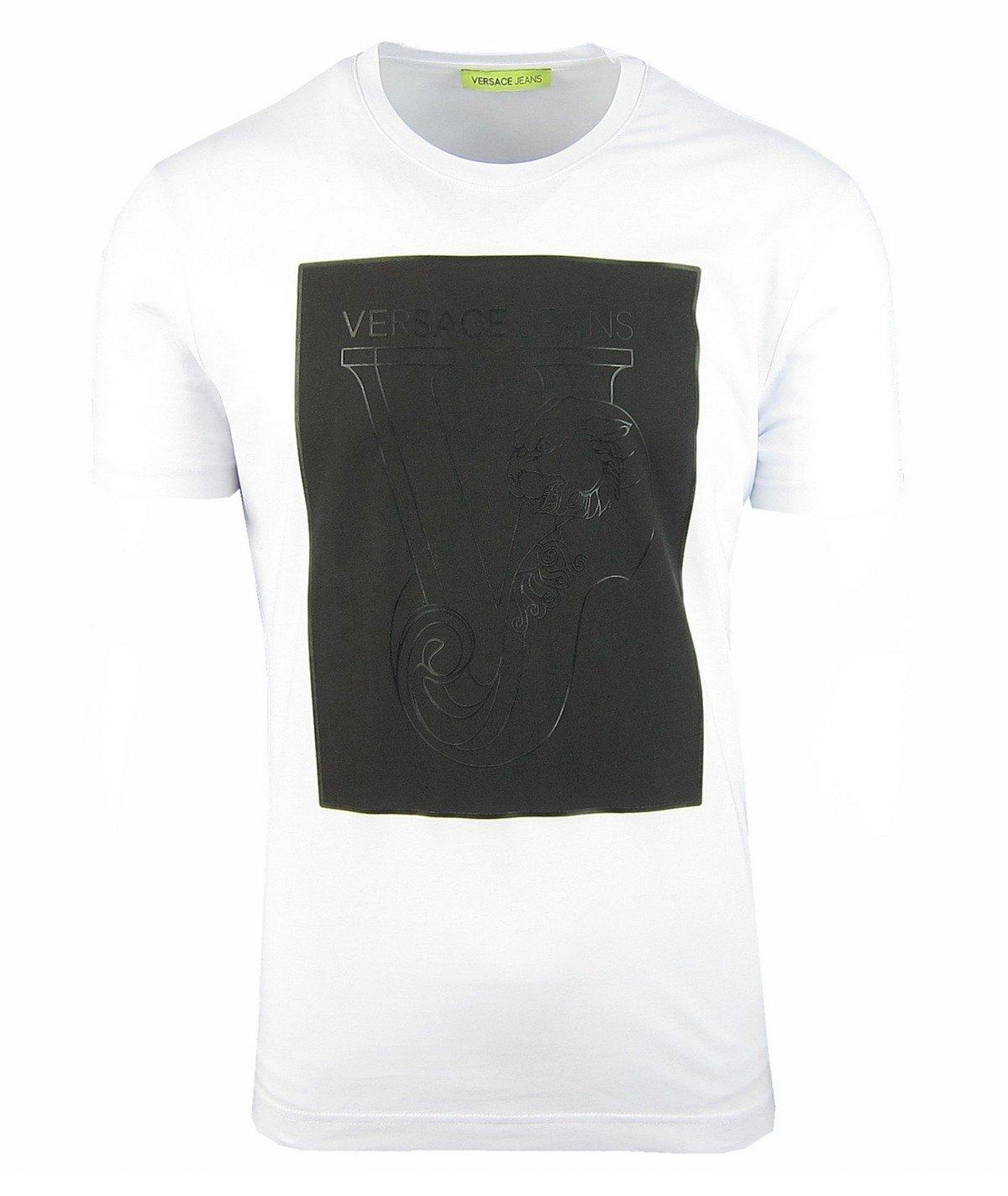 131b5629941952 VERSACE JEANS B3GQB798 Herren Men T-Shirt Kurzarm Weiß White Click to zoom  ...