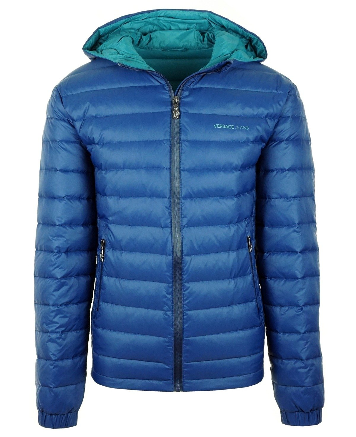 the latest 1135f f61a4 VERSACE JEANS E5GNA907 Herren Men Daunenjacke Down Jacket Blau Blue