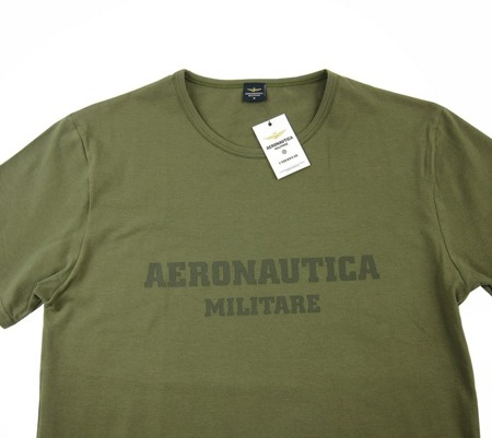 AERONAUTICA MILITARE Herren Men T-Shirt Kurzarm Grün Military Green Neu New