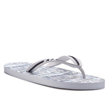 ARMANI JEANS AM561 Herren Men Flip Flops Zehentrenner Beach Sandals White Weiß