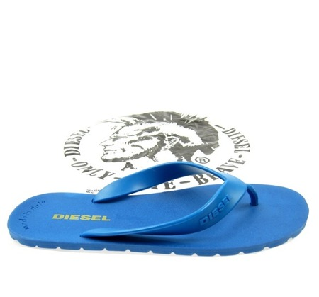 DIESEL Splish Herren Men Flip Flops Zehentrenner Beach Sandals Blue Blau Neu