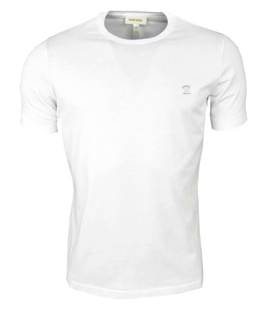 DIESEL T-Chirp-RS Herren Men T-Shirt Weiß White Kurzarm