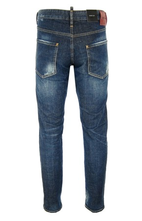 DSQUARED² S74LB0027 Herren Men Clement Jeans Hose Denim Blau Blue Made in Italy