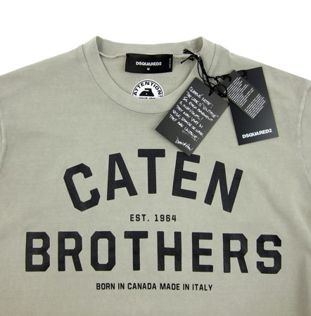 DSQUARED2 Caten Brothers Herren Men T-Shirt Kurzarm Made in Italy