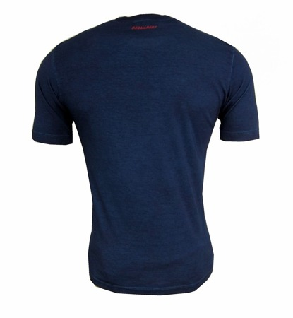 DSQUARED2 S71GD0282 Herren Men T-Shirt Kurzarm Blau Blue Navy Made in Italy