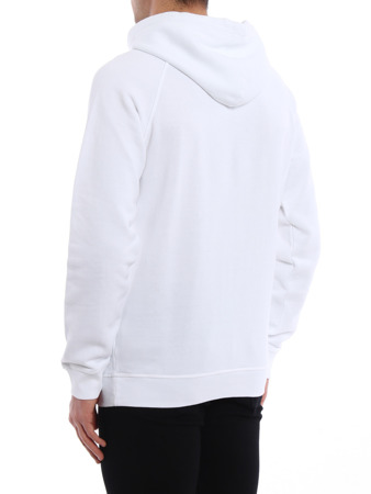DSQUARED2 S71GU0174 Herren Men Kapuzenpullover Hoodie Weiß White Made in Italy