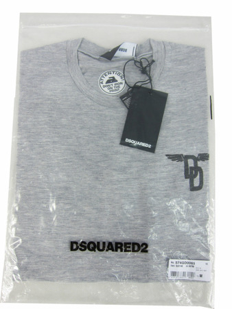 DSQUARED2 S74GD0065 Herren Men T-Shirt Made in Italy Grau Grey Used-Look