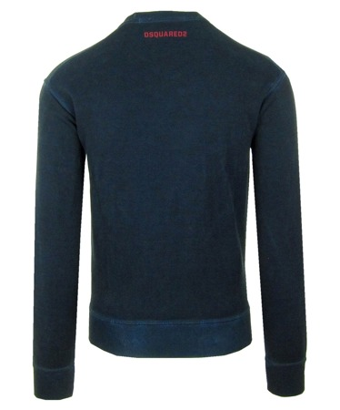 DSQUARED2 S74GU0165 Herren Men Sweatshirt Pullover Dunkelblau Made in Italy