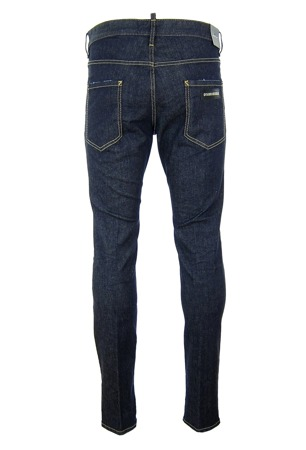 DSQUARED² S74LB0034 Cool Guy Jeans Herren Men Hose Denim Blau Blue Made in Italy