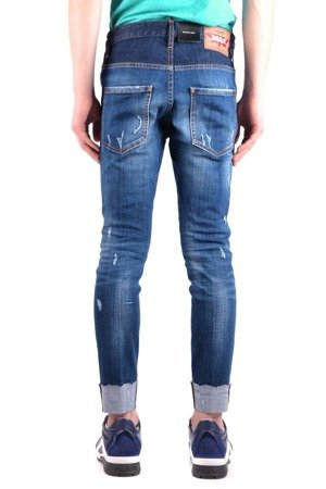 DSQUARED² Skater Jean Herren Men Jeans Hose Made in Italy Denim Blau
