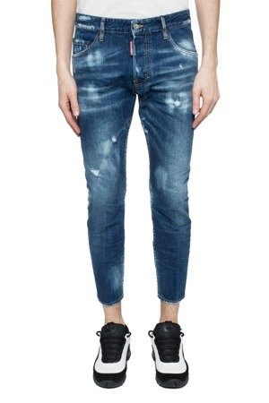 DSQUARED² Skater Jean Herren Men Jeans Hose Made in Italy Destroyed Look