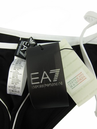 EA7 EMPORIO ARMANI 5A727 Damen Women Bikini Set Triangle Beachwear Schwarz Black