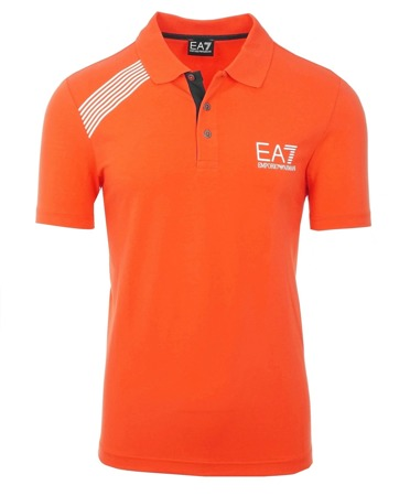 EMPORIO ARMANI EA7 Herren Men Polo T-Shirt Poloshirt Orange Slim Fit