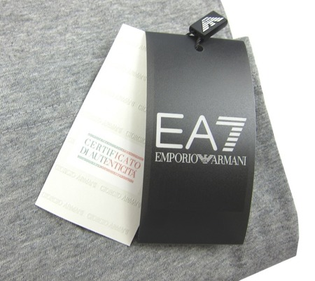 EMPORIO ARMANI EA7  Herren Men T-Shirt Kurzarm Grau Grey Miami Tropical Florida