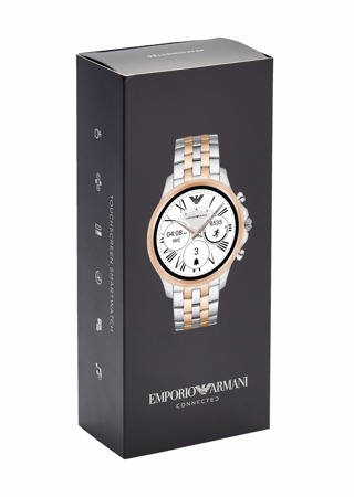 Emporio Armani Connected ART5001 Herren Men Uhr Smartwatch Silber/Gold