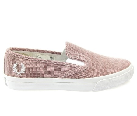 FRED PERRY B7405W Damen Women Sneaker Turner Slip On Schuhe Shoes Crushed Berry