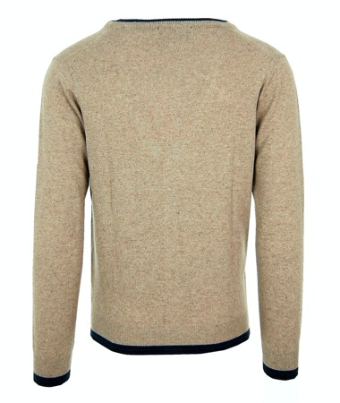 FRED PERRY Herren Men Cardigan Strickjacke Pullover Made in Italy Beigetöne