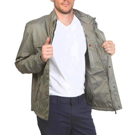 GEOX Respira Herren Men Übergangs Jacke Jacket Light Stone Grautöne