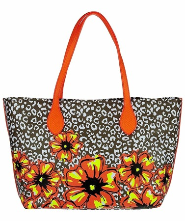 GUESS Ivian Leopard Medium Tote Damen Women Tasche Bag Blumen Sommer Multicolor
