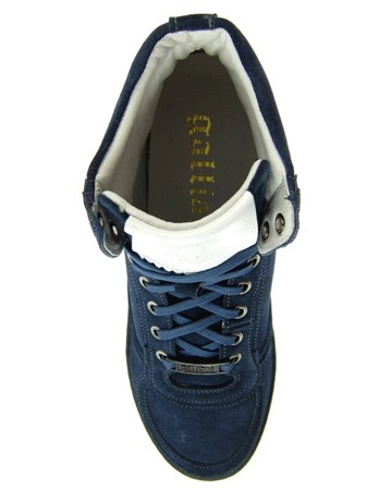 JOHN GALLIANO Herren Men Schuhe High Top Sneaker Shoes Leder Leather Dunkelblau